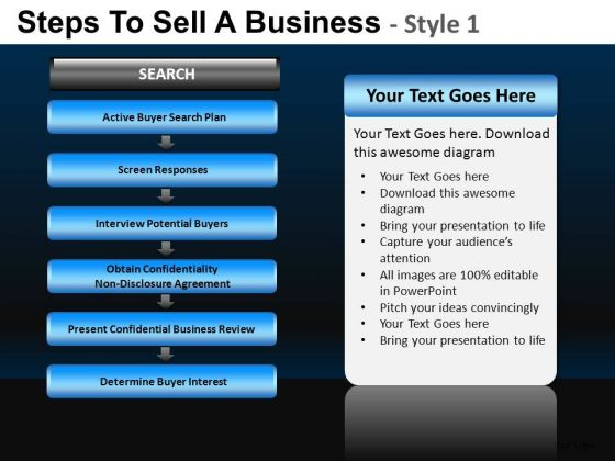Corporate Steps To Sell A Business 1 PowerPoint Slides And Ppt Diagram Templates