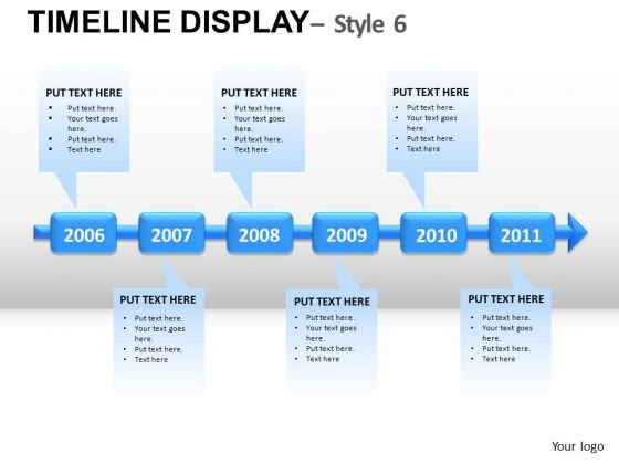 Corporate Timeline Display 6 PowerPoint Slides And Ppt Diagram Templates