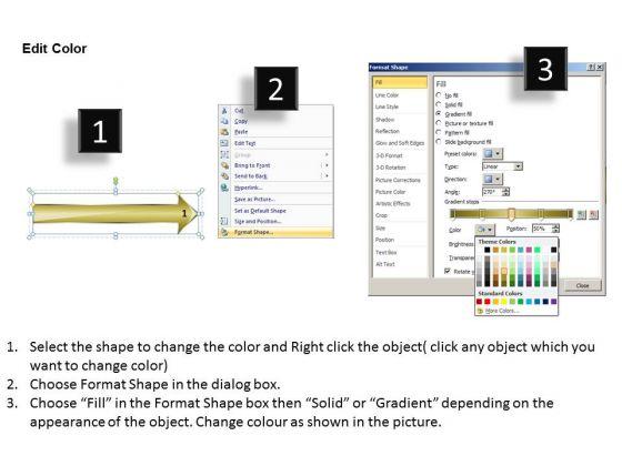Corresponding 5 Colorful Arrows Parallel Process Spa Business Plan