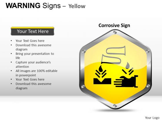 Corrosive Crisis Warning Signs PowerPoint Slides And Ppt Diagram Templates
