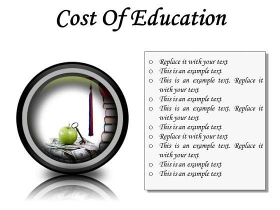 Cost Of Education Money PowerPoint Presentation Slides Cc