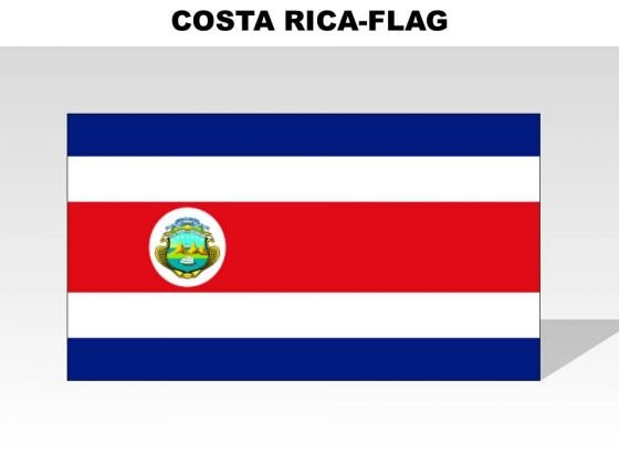 Costa Rica Country PowerPoint Flags