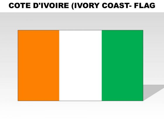 Cote Divoire Ivory Coast Country PowerPoint Flags
