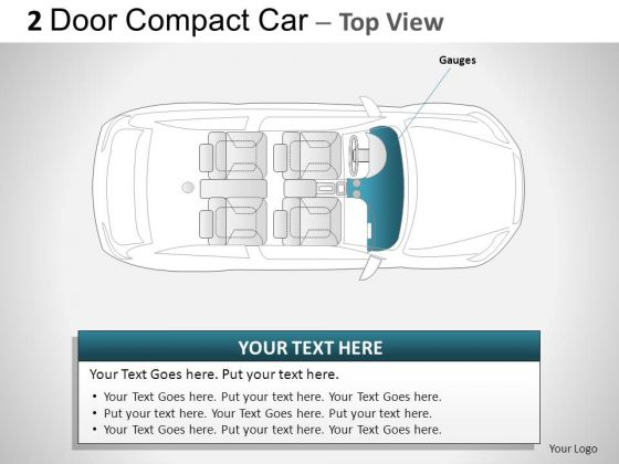 Country 2 Door Gray Car Top PowerPoint Slides And Ppt Diagram Templates