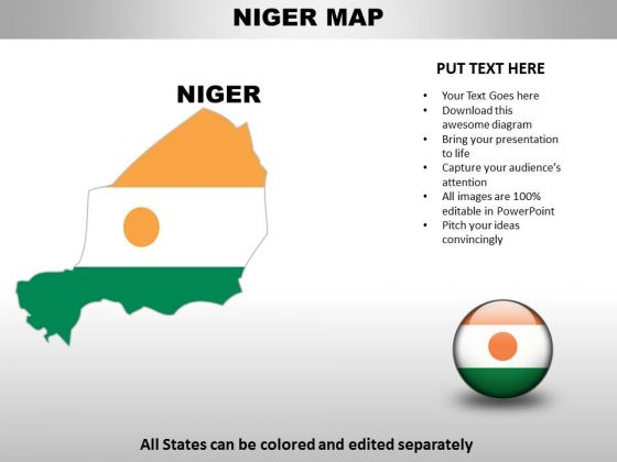 Country PowerPoint Maps Niger