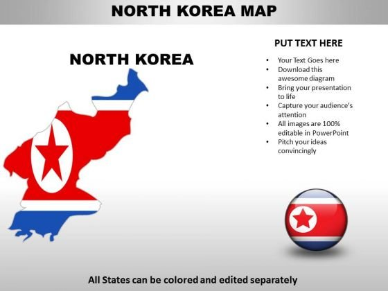 Country powerpoint maps north korea powerpoint templates toneelgroepblik Images