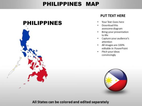 editable philippines ppt map powerpoint templates slides and graphics