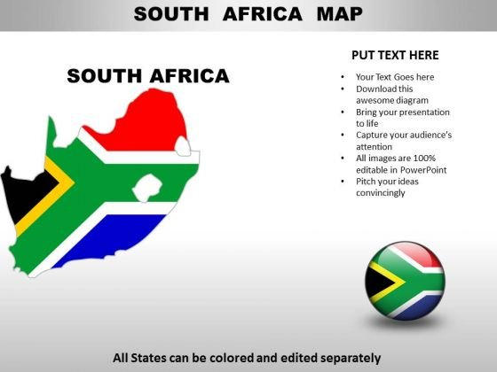 south africa map ppt