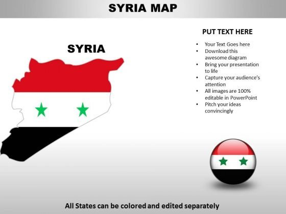 Country PowerPoint Maps Syria