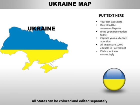 Editable ukraine ppt map powerpoint templates slides and graphics check out our best designs of editable ukraine ppt map powerpoint templates toneelgroepblik Images
