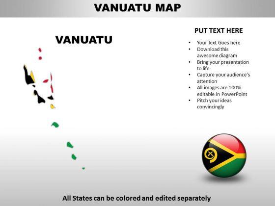 Country PowerPoint Maps Vanuatu PowerPoint Templates - Vanuatu map download