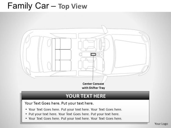 Crash Blue Family Car Top View PowerPoint Slides And Ppt Diagram Templates