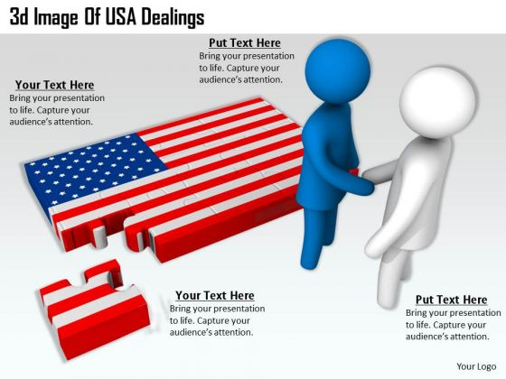 Creative Marketing Concepts 3d Image Of Usa Dealings Character Modeling