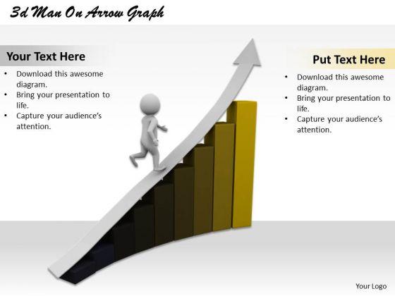 Creative Marketing Concepts 3d Man Arrow Graph Characters