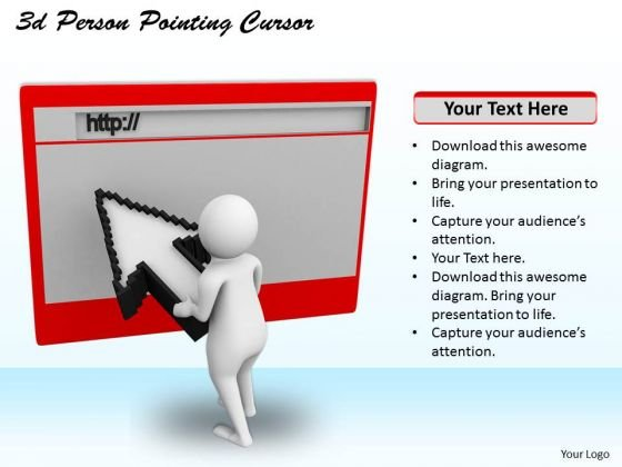 Creative Marketing Concepts 3d Person Pointing Cursor Character