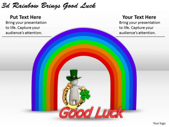 Creative Marketing Concepts 3d Rainbow Brings Good Luck Character
