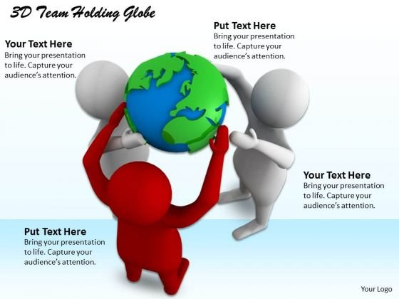 Creative Marketing Concepts 3d Team Holding Globe Adaptable Business