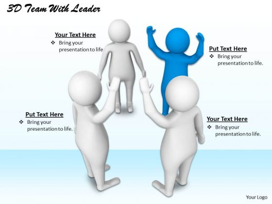 Creative Marketing Concepts 3d Team With Leader Adaptable Business