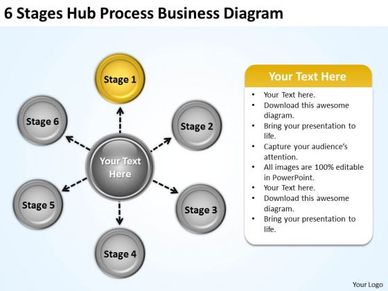 Creative Marketing Concepts 6 Stages Hub Process Business Diagram Plan Strategy