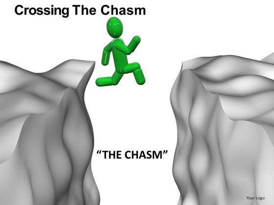 Crossing The Chasm Gap PowerPoint Templates