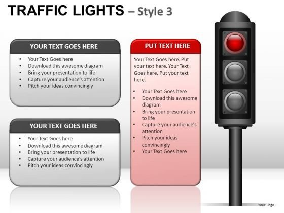 Crossroad Traffic Light PowerPoint Slides And Ppt Diagram Templates