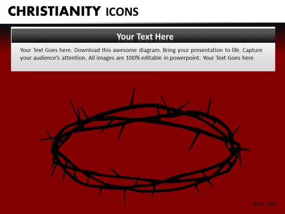 Crown Of Thorns Crucifixion PowerPoint Ppt Templates