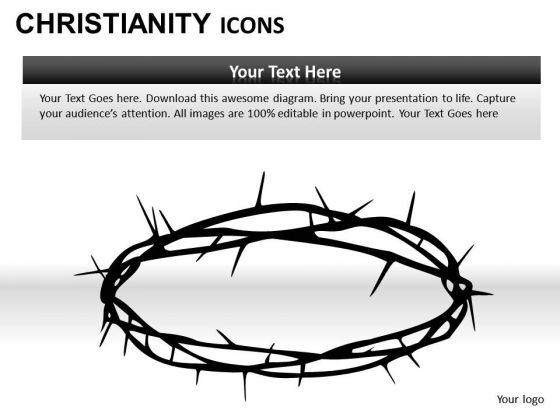 Crown Of Thorns Jesus Christian PowerPoint Slides And Ppt Diagram Templates