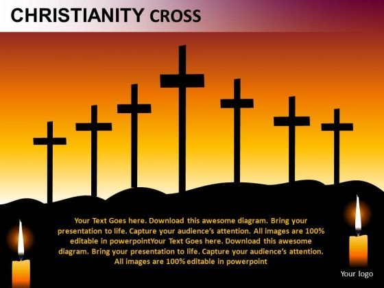 Crucifix Christianity Cross PowerPoint Slides And Ppt Templates