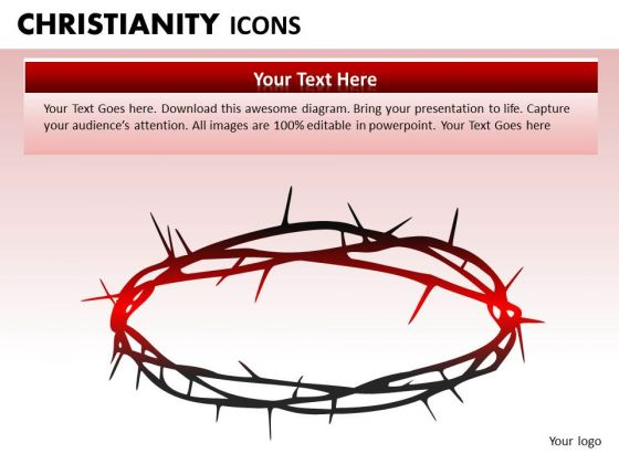 Crucifix PowerPoint Ppt Templates