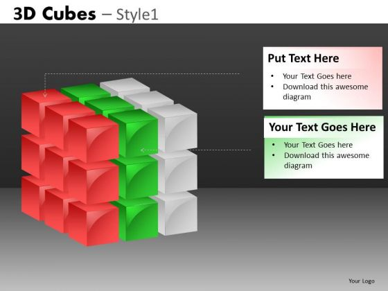 Cube PowerPoint Diagram Layers Ppt Slides