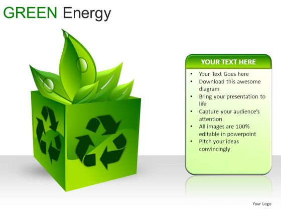 Cubes Green Energy PowerPoint Slides And Ppt Diagram Templates