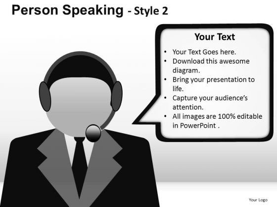 Customer Support Person PowerPoint Slides And Ppt Templates