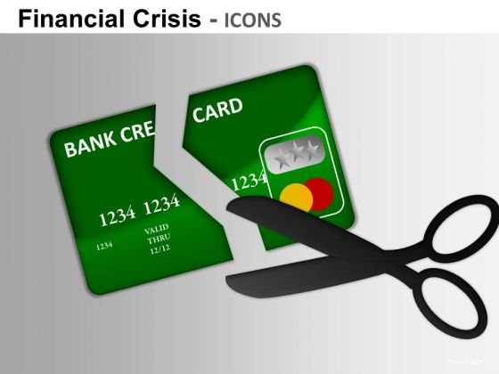 Cutting Credit Cards Debt PowerPoint Ppt Templates