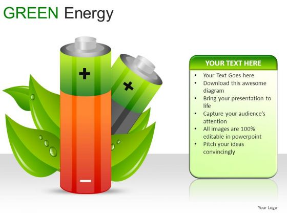 Cylinders Green Energy PowerPoint Slides And Ppt Diagram Templates
