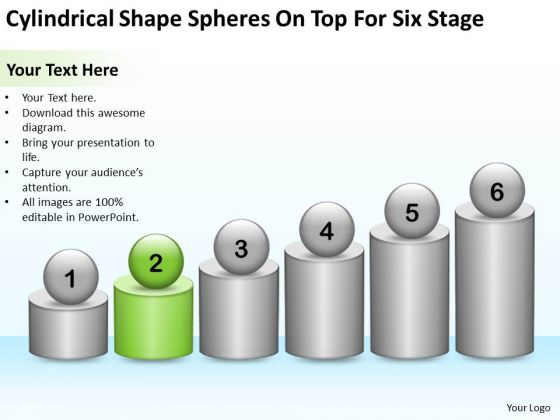 Cylindrical Shape Spheres On Top For Six Stage Ppt How Do Business Plan PowerPoint Slides
