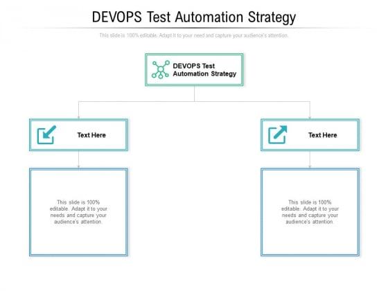 DEVOPS Test Automation Strategy Ppt PowerPoint Presentation Summary Layout Cpb Pdf