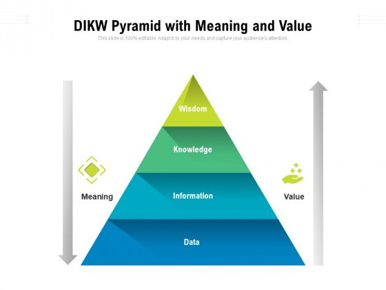DIKM Pyramid With Meaning And Value Ppt PowerPoint Presentation Infographics Vector PDF