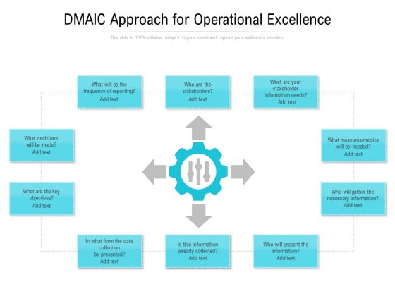 DMAIC Approach For Operational Excellence Ppt PowerPoint Presentation Slides Smartart PDF