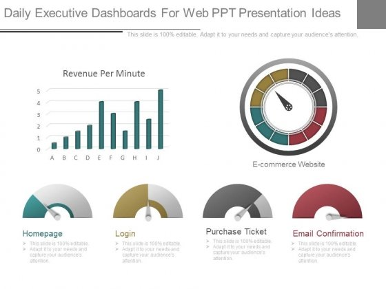 Daily Executive Dashboards For Web Ppt Presentation Ideas
