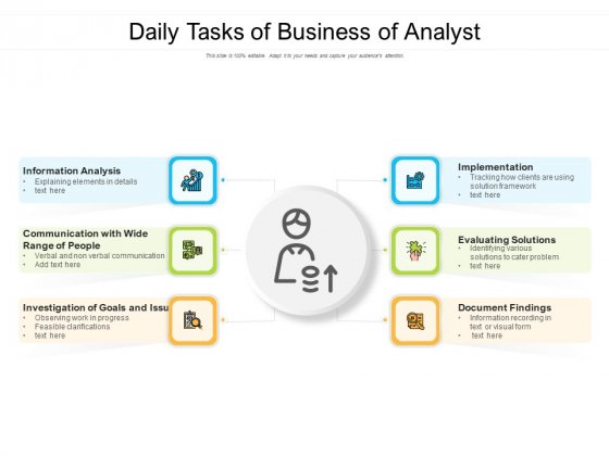 Daily Tasks Of Business Of Analyst Ppt PowerPoint Presentation Show Files PDF