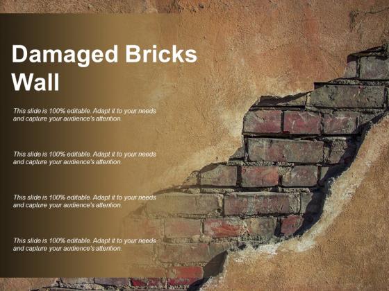 Damaged Bricks Wall Ppt PowerPoint Presentation Layouts Clipart