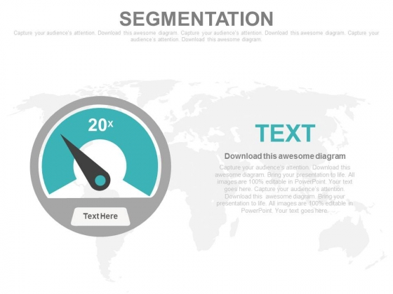 Dashboard Diagram For Data Segmentation Powerpoint Slides