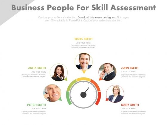 Dashboard For Employee Skill Assessment Powerpoint Slides