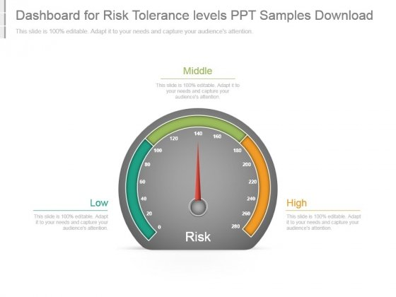 Dashboard For Risk Tolerance Levels Ppt Samples Download