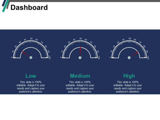 Dashboard Low Medium Ppt PowerPoint Presentation Gallery Rules