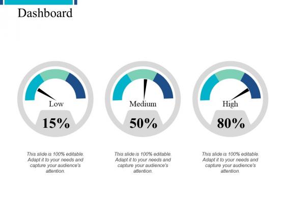Dashboard Low Medium Ppt PowerPoint Presentation Inspiration Ideas