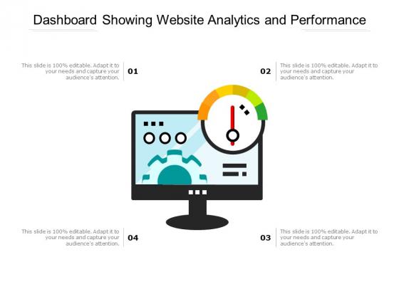 Dashboard_Showing_Website_Analytics_And_Performance_Ppt_PowerPoint_Presentation_Portfolio_Inspiration_PDF_Slide_1