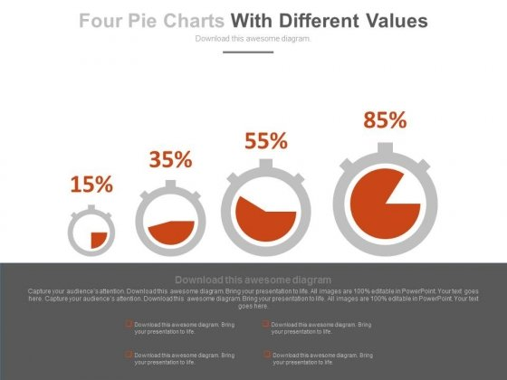 Dashboard With Increasing Values Powerpoint Slides
