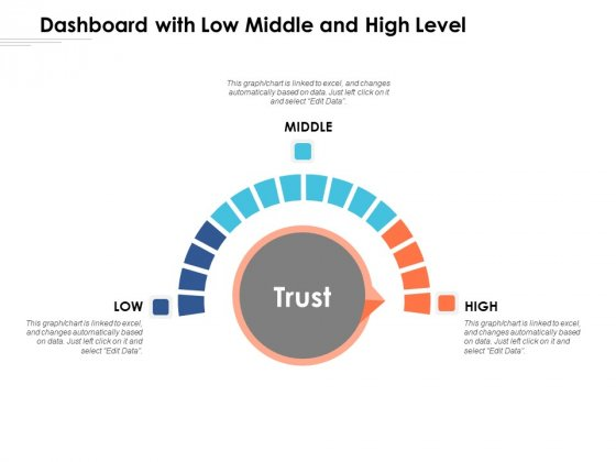 Dashboard With Low Middle And High Level Ppt PowerPoint Presentation Examples PDF