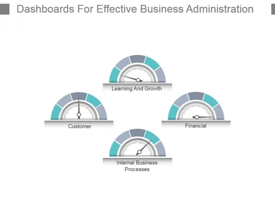 Dashboards For Effective Business Administration Powerpoint Slide Influencers